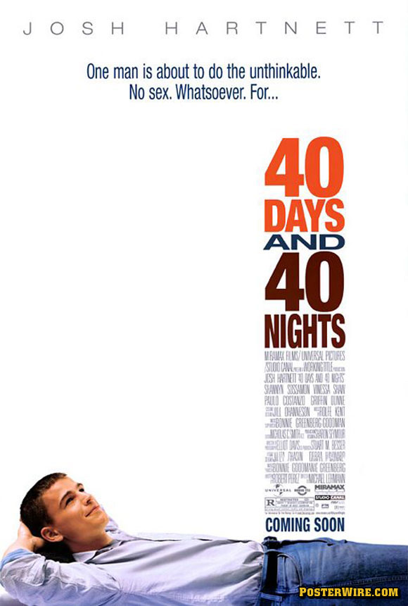 40 Days and 40 Nights movie poster