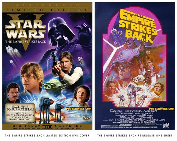 The Empire Strikes Back DVD cover comparison