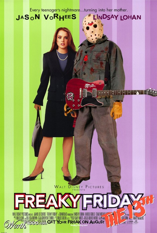 Freaky Friday the 13th movie poster