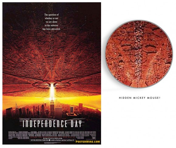 Independence Day movie poster hidden image