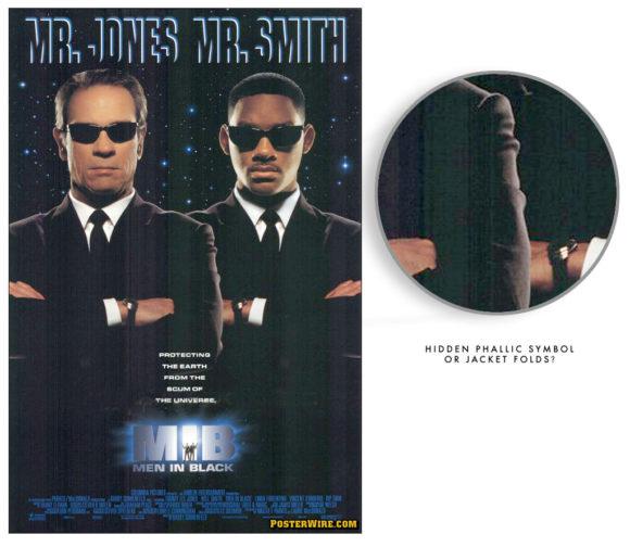 Men in Black movie poster hidden image