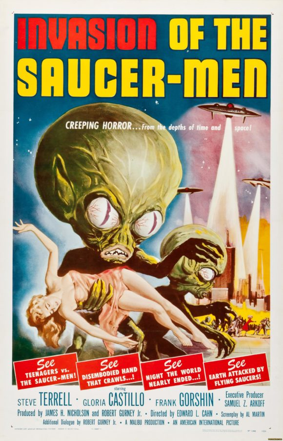 Invasion of the Saucer Men movie poster