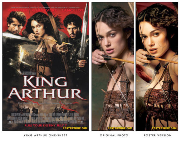 Keira Knightley King Arthur movie poster