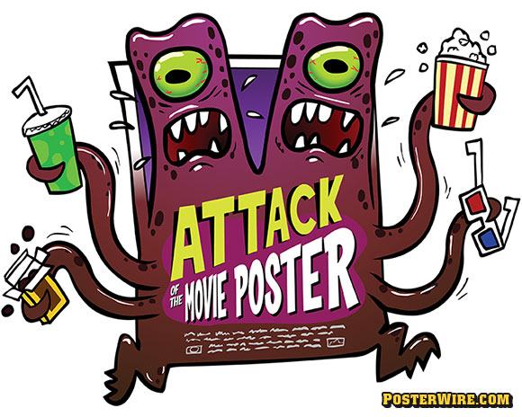 Attack of the Movie Poster Monster t-shirts