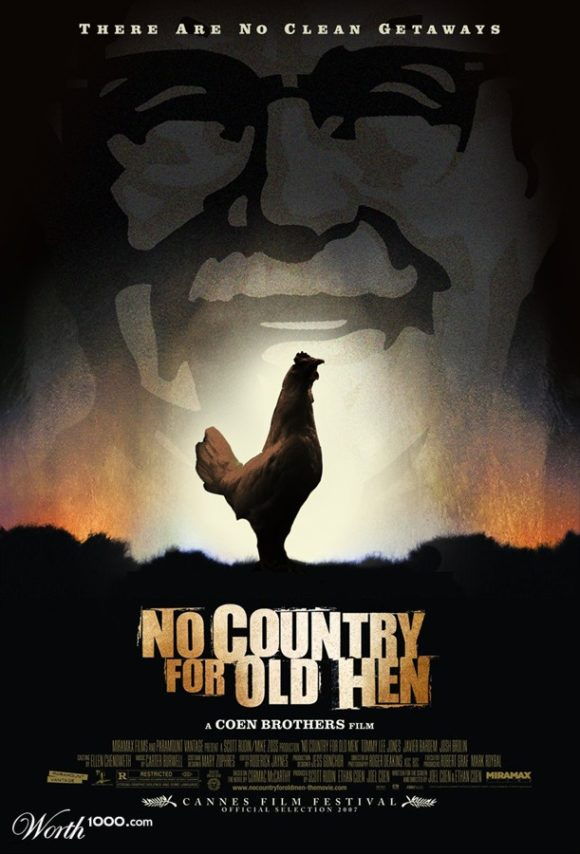 No Country for Old Hen parody movie poster