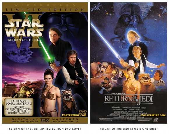 Return of the Jedi DVD cover comparison