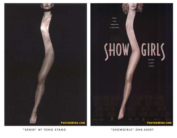 Showgirls movie poster comparison