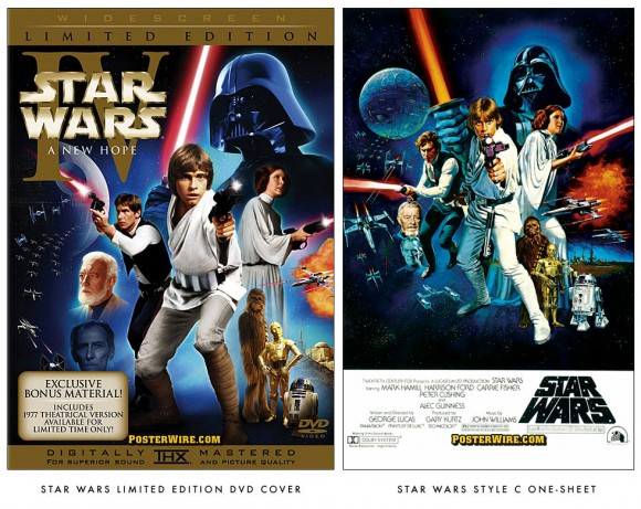 Star Wars DVD cover comparison