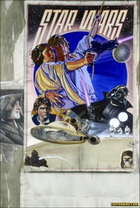 Star Wars Style D movie poster art