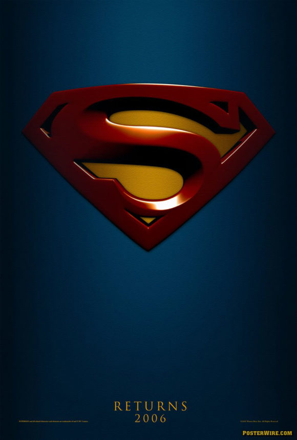 Superman Returns teaser movie poster