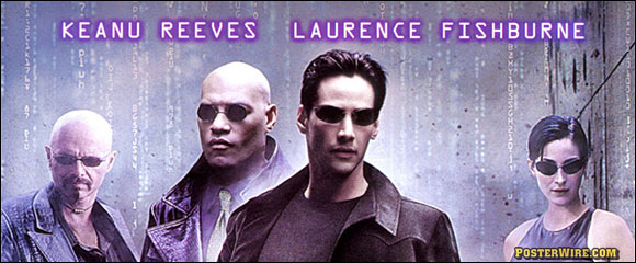 The Matrix movie poster credits