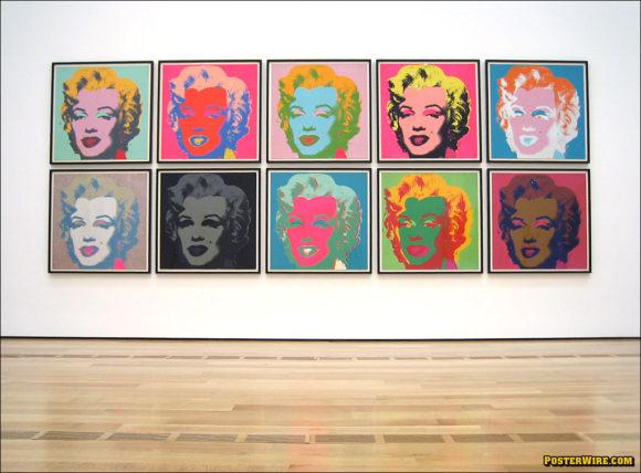 Marilyn Monroe silkscreen prints by Andy Warhol